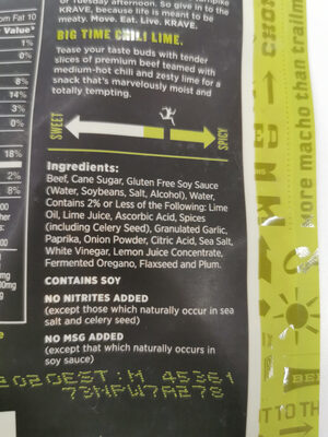 Chili lime - Ingredients - fr