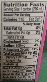 Strawberry Fat Free Milk - Nutrition facts - en