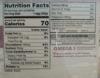 Fresh large brown eggs - Nutrition facts - en