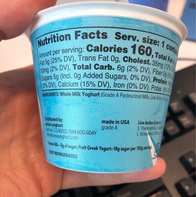 Plain high protein lower sugar yoghurt - Nutrition facts - en