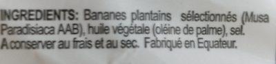 Chips Plantin Salées - Ingrédients - fr