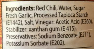 Spicy Sriracha Sauce - Ingredients - fr