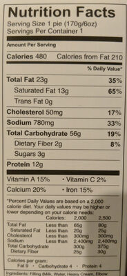 MAC & CHEESE - Nutrition facts - en
