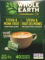Stevia & Monk fruit sweetener blend - Product - fr