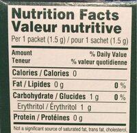 Stevia & Monk fruit sweetener blend - Nutrition facts - fr