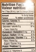 Smokehouse BBQ sauce - Nutrition facts - fr