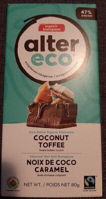 Tablette chocolat noir noix de coco caramel - Product - fr