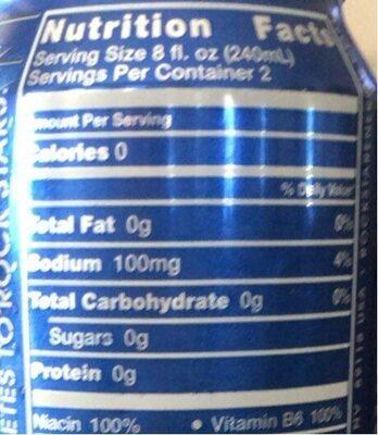 Rockstar zero carb energy drink - Nutrition facts - en