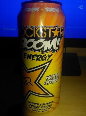 Rockstar, boom energy drink, whipped orange, whipped orange - Product - en