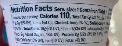 Greek yogurt blackberry - Nutrition facts - en