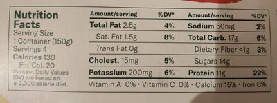 Chobani Greek Yogurt Strawberry Banana - Nutrition facts