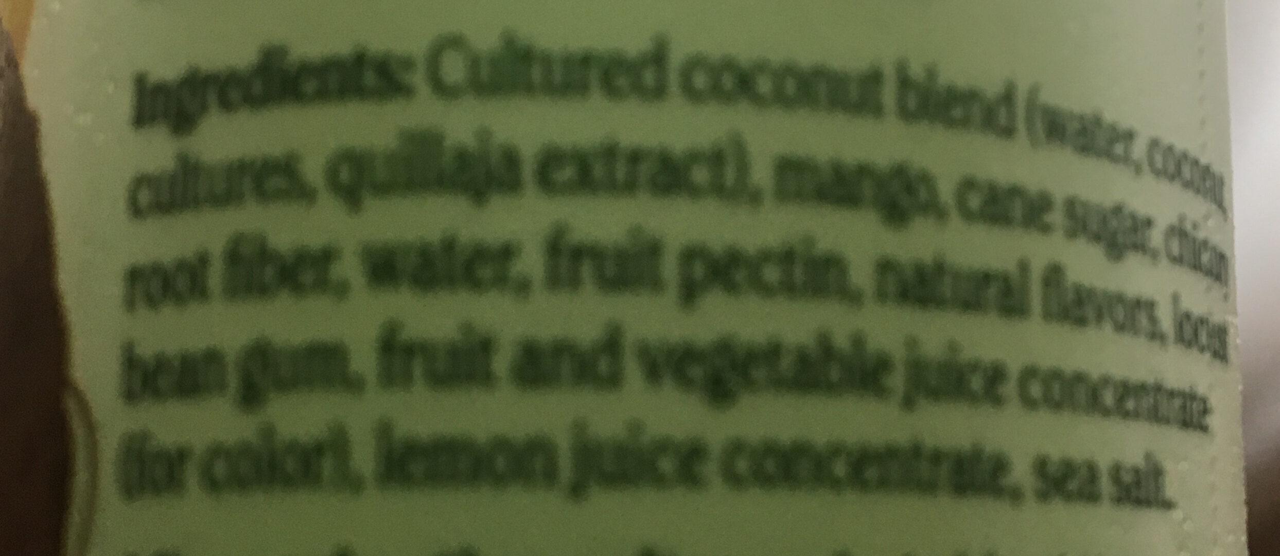Non-Dairy Chobani - Ingredients