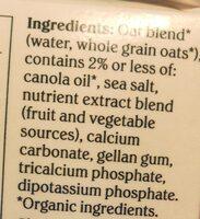 Oat Plain - Ingredients - en