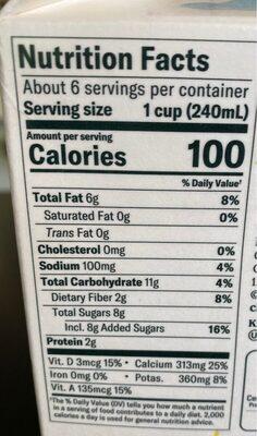Oat Plain - Nutrition facts - en