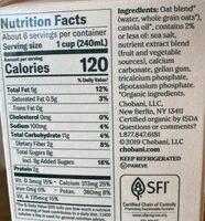 Oat plain extra cream - Nutrition facts - en