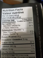 Rôti de bœuf braisé - Nutrition facts