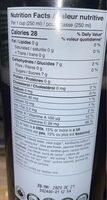Lychee & jasmine kombucha - Informations nutritionnelles - fr