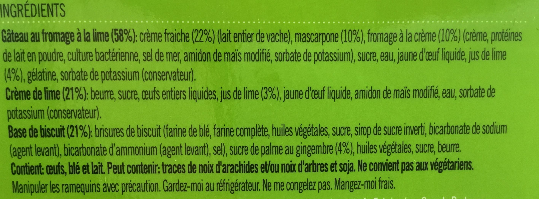 Tarte à la lime Key - Ingredients - fr