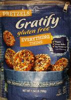 Gratify gluten free everything pretzel thins - Product - en