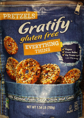 Gratify gluten free everything pretzel thins - Product