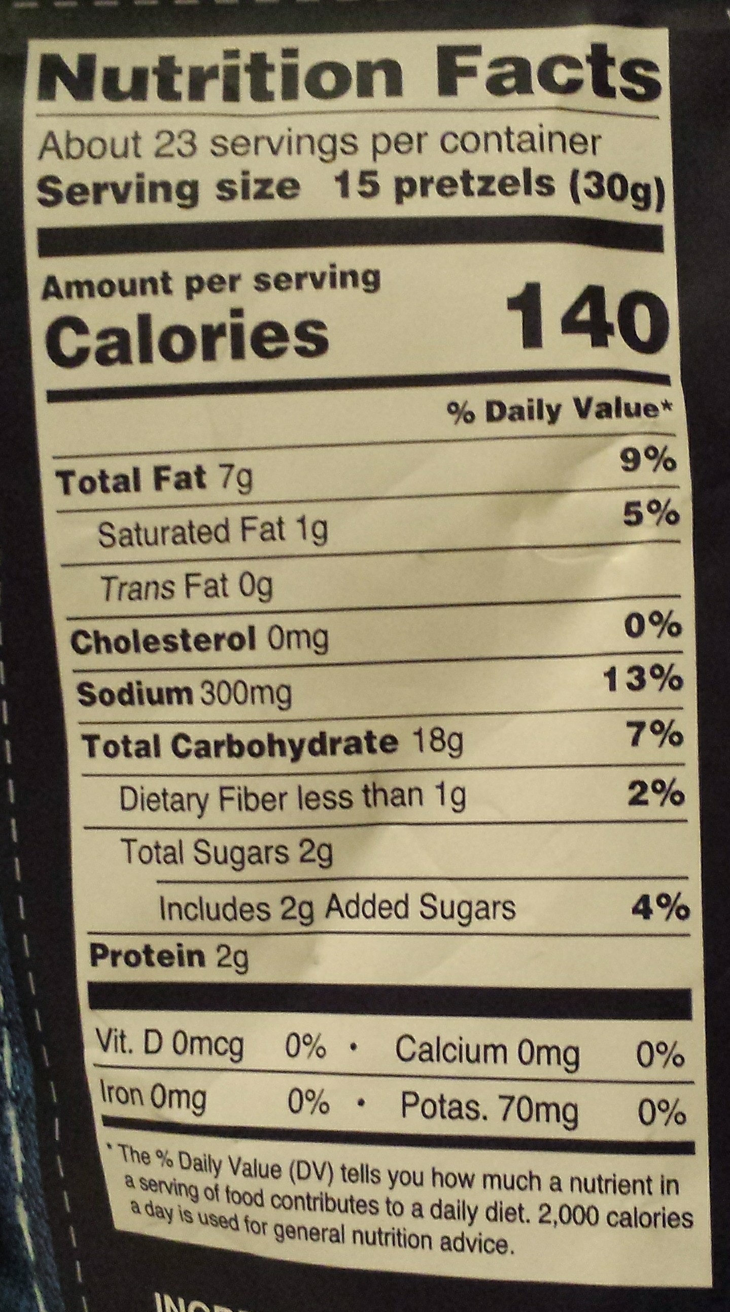 Gratify gluten free everything pretzel thins - Nutrition facts
