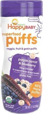 Organic superfood puffs purple carrot blueberry - Produit - la