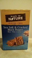 Sea Salt & Cracked Black Pepper Rice Thin Crackers - Product