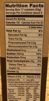Crispy Wheat Crackers - Nutrition facts - en