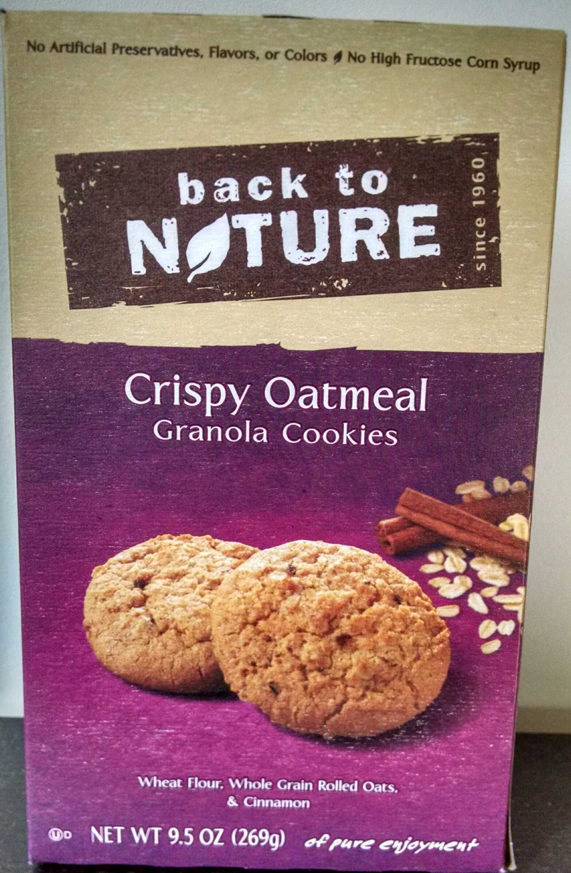 Crispy Oatmeal Granola Cookies - Product - en