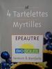 Tartelettes myrtilles - Product