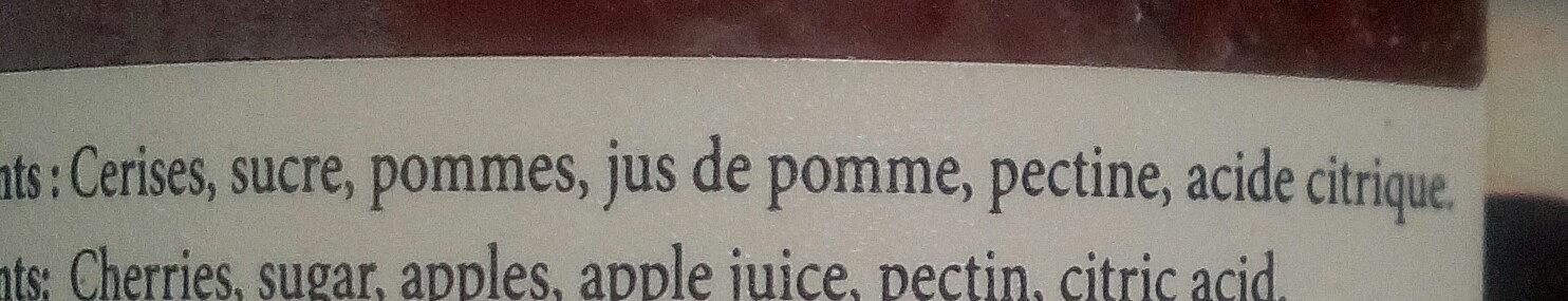 Cerises à tartiner - Ingrédients - fr