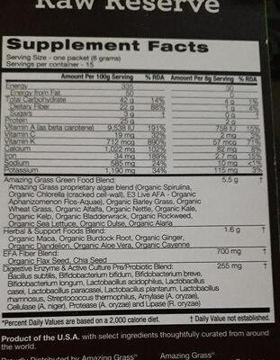 - Ingredients - fr