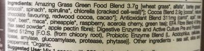 Green Superfood Chocolate 240G - Ingrédients