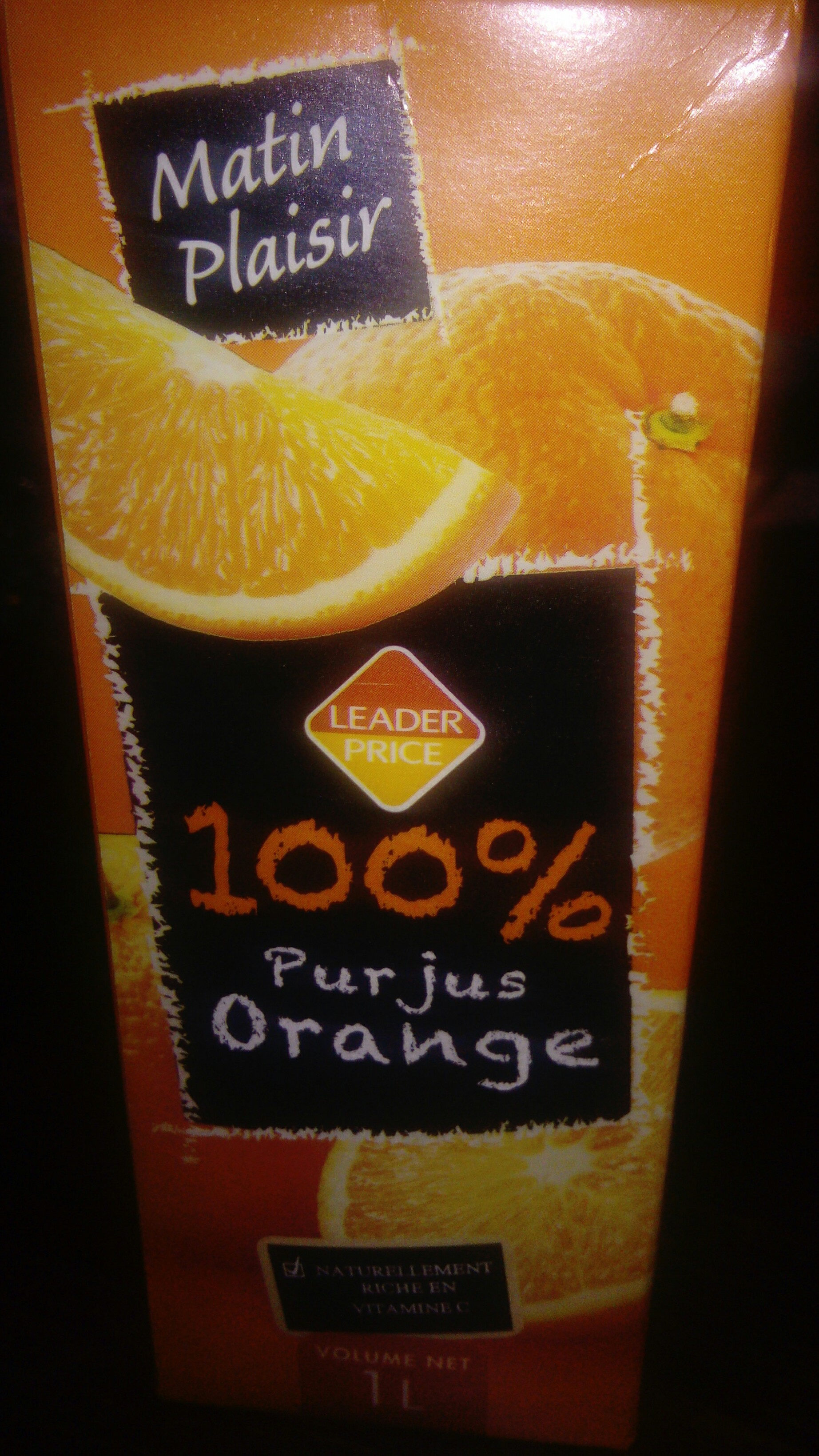 100% pur  jus orange - Produit - fr