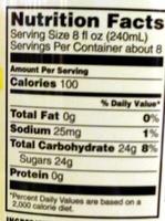 Refreshe Tonic Water - Informations nutritionnelles - en
