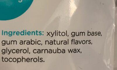 Sugar free chewing gum - Ingredients - en