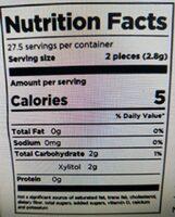 Sugar free chewing gum - Nutrition facts - en