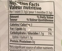 Mints mint mojito lime - Nutrition facts - en