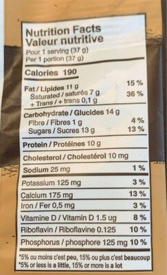 Chunkies - Nutrition facts - fr