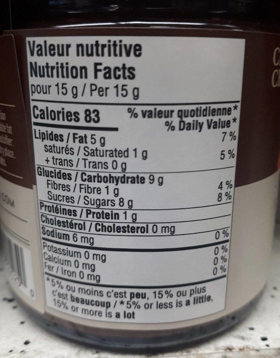 Crème de chocolat et noisettes - Nutrition facts - en