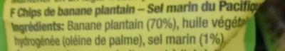 Plantain Chips Pacific sea salt - Ingrédients