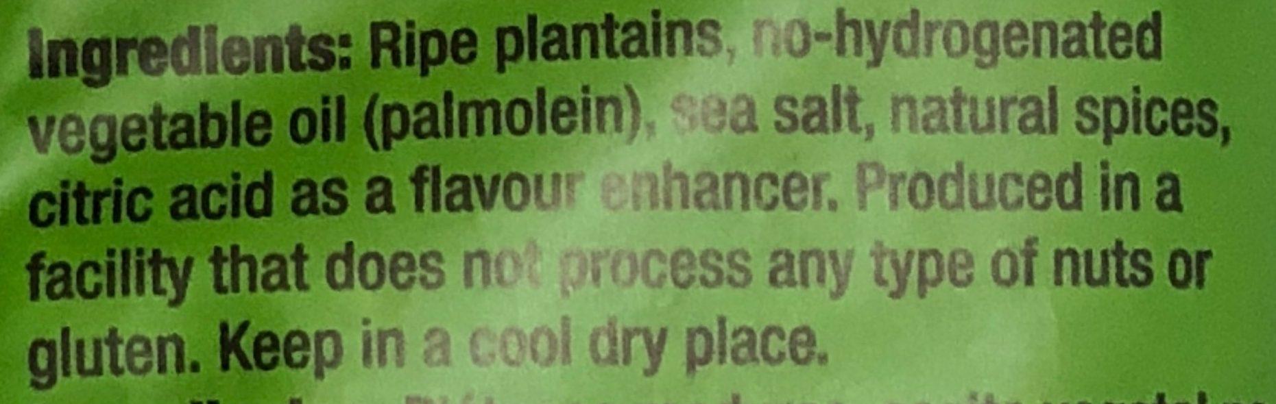 Plantain Chips Smoked Chili - Ingredients