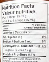 Confiture d'abricot - Informations nutritionnelles - fr