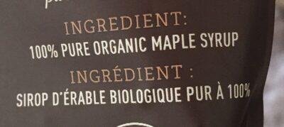 Flocons d'erable - Ingrediënten