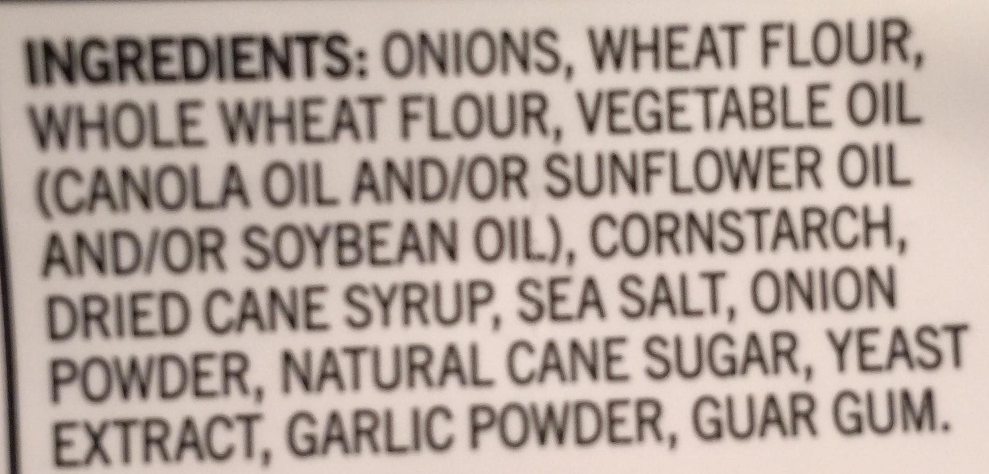 Crispy Onion Rings - Ingrédients - en