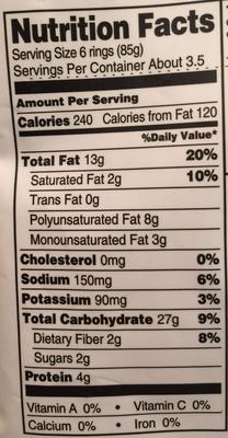 Crispy Onion Rings - Informations nutritionnelles - en