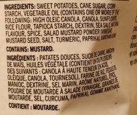 Dauphine patate douce - Ingredients - en