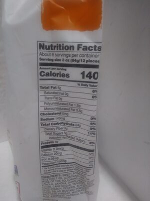 Sweet potato fries with sea salt - Nutrition facts - en