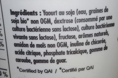Soygo vanille - Ingredients - fr