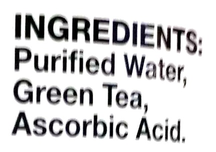Sencha Shot - Ingredients